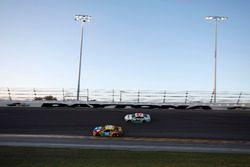 Kyle Busch, Joe Gibbs Racing Toyota Camry, Gray Gaulding, BK Racing Toyota Camry