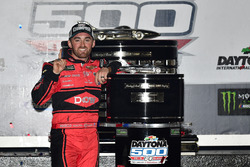 Austin Dillon, Richard Childress Racing Chevrolet Camaro celebrates in victory lane