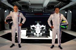 Race drivers Valtteri Bottas and Felipe Massa
