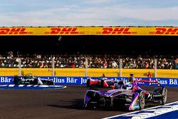 Sam Bird, DS Virgin Racing, Felix Rosenqvist, Mahindra Racing, andLucas di Grassi, Audi Sport ABT Sc