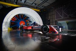 Mahindra Formula E car in the Pininfarina wind tunnel