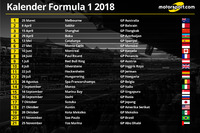 Kalender Formula 1 2018