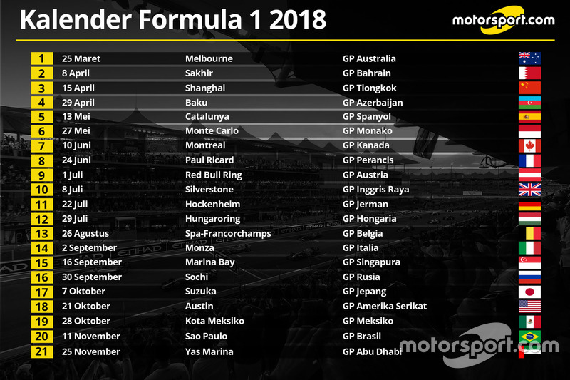 berita f1 jadwal resmi kalender formula 1 2018. Black Bedroom Furniture Sets. Home Design Ideas
