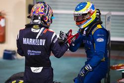 Le deuxième Artem Markelov, RUSSIAN TIME & et le vainqueur Oliver Rowland, DAMS (disqualifié)