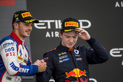 Podium: race winner Dorian Boccolacci, Trident, third place Dan Ticktum, DAMS