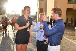 Rosanna Tennant, Johnny Herbert, Sky TV and Nico Rosberg, Mercedes-Benz Ambassador