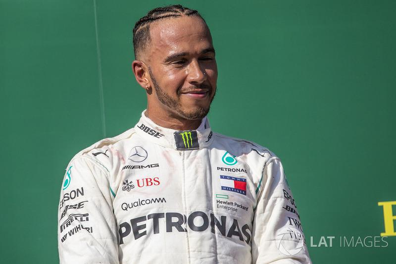 Lewis Hamilton, Mercedes-AMG F1 en el podio