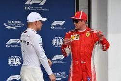 Kimi Raikkonen, Ferrari and Valtteri Bottas, Mercedes-AMG F1 celebrate in parc ferme