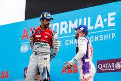 Sam Bird, DS Virgin Racing, finishes 3rd with Lucas di Grassi, Audi Sport ABT Schaeffler, finishing 2nd