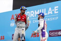 2. Lucas di Grassi, Audi Sport ABT Schaeffler, 3. Sam Bird, DS Virgin Racing