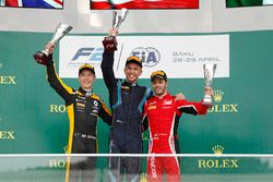 Podium: race winner Alexander Albon, DAMS, second place Jack Aitken, ART Grand Prix. third place Antonio Fuoco, Charouz Racing System