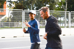 Sean Gelael, walks the track