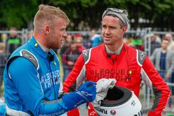 Broadcaster, TV panelist, former England international cricketer Andrew Freddie Flintoff takes the Formula E car out on track