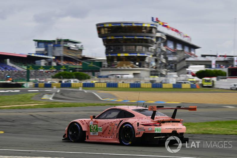 Le Mans 2017: Winnaars GTE Pro: #92 Porsche 911 RSR: Laurens Vanthoor, Michael Christensen, Kevin Estre