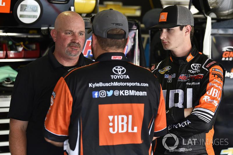 Spencer Davis, Kyle Busch Motorsports, Toyota Tundra JBL/SiriusXM and Mike Hillman Jr