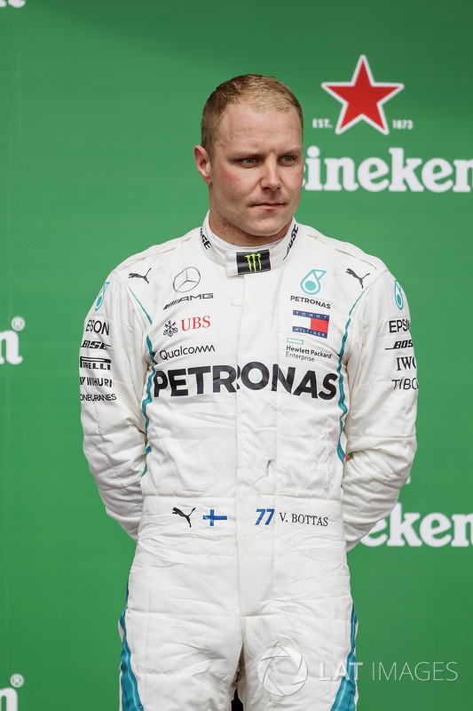 Valtteri Bottas, Mercedes AMG F1, 2nd position, on the podium
