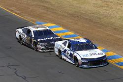 Kyle Larson, Chip Ganassi Racing, Chevrolet Camaro DC Solar and Aric Almirola, Stewart-Haas Racing, Ford Fusion Smithfield