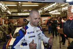 #91 Porsche GT Team Porsche 911 RSR: Gianmaria Bruni, celebrates the GTLM Pro pole