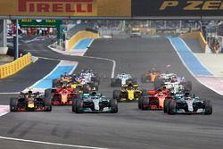 Lewis Hamilton, Mercedes AMG F1 W09, Valtteri Bottas, Mercedes AMG F1 W09, Sebastian Vettel, Ferrari SF71H, Max Verstappen, Red Bull Racing RB14, Daniel Ricciardo, Red Bull Racing RB14