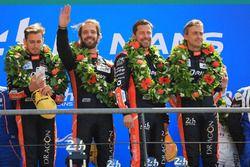 LMP2 podium: winners Roman Rusinov, Andrea Pizzitola, Jean-Eric Vergne, G-Drive Racing