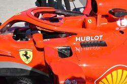 Ferrari SF71H, dettaglio degli sfoghi laterali