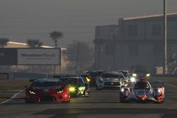 #54 CORE autosport ORECA LMP2, P: Jon Bennett, Colin Braun, Romain Dumas #48 Paul Miller Racing Lamborghini Huracan GT3, GTD: Madison Snow, Bryan Sellers, Bryce Miller