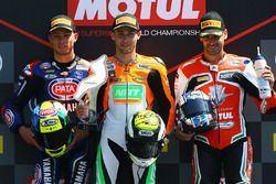 Podium: race winner Jules Cluzel, NRT, second place Federico Caricasulo, GRT Yamaha Official WorldSSP Team, third place Raffaele De Rosa, MV Agusta Reparto Corse by Vamag