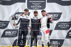 Podium: Race winner Yvan Muller, YMR Hyundai i30 N TCR, second place Thed Björk, YMR Hyundai i30 N TCR, third place Rob Huff, Sébastien Loeb Racing Volkswagen Golf GTI TCR