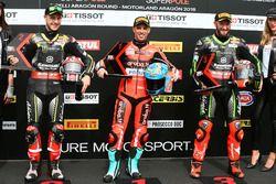 Jonathan Rea, Kawasaki Racing, Marco Melandri, Aruba.it Racing-Ducati SBK Team, Tom Sykes, Kawasaki Racing