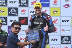 Podium SS600: second position Anthony West, Webike IKAZUCHI Racing