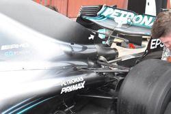Mercedes GP W09 parte posterior