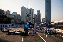 Daniel Abt, Audi Sport ABT Schaeffler leads Mitch Evans, Jaguar Racing