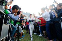 Sam Bird, DS Virgin Racing, viert feest op het podium