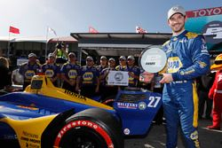 Alexander Rossi, Andretti Autosport Honda celebrates winning the Verizon P1 Pole Award