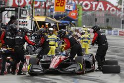 Robert Wickens, Schmidt Peterson Motorsports Honda, pitstop