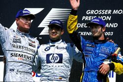 Podium: 1. Juan Pablo Montoya, Williams; 2. David Coulthard, McLaren; 3. Jarno Trulli, Renault