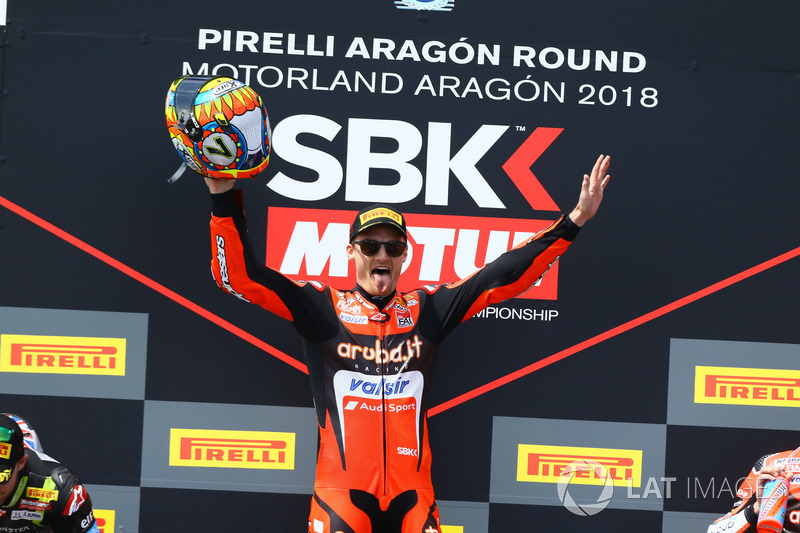 Podium : Chaz Davies, Aruba.it Racing-Ducati SBK Team
