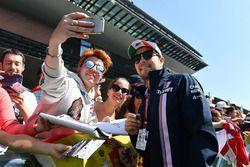 Sergio Perez, Force India fait un selfie