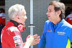 Davide Tardozzi, directeur de Ducati Team, Davide Brivio, directeur de Team Suzuki MotoGP
