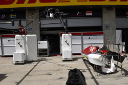 Sauber garage preparations