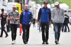 Pierre Gasly, Scuderia Toro Rosso, Jody Egginton, Scuderia Toro Rosso, Brendon Hartley, Scuderia Toro Rosso ve Alexander Wurz, Williams Sürücü Koçu