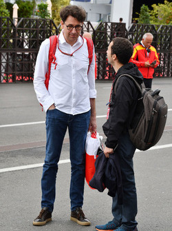 Mattia Binotto, Ferrari Chief Technical Officer and Nicolas Todt, Driver Manager