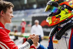 Race winner Callum Ilott, ART Grand Prix, third place Alessio Lorandi, Trident