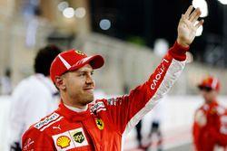 Il poleman Sebastian Vettel, Ferrari SF71H