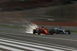 Sebastian Vettel, Ferrari SF71H and Lewis Hamilton, Mercedes-AMG F1 W09 EQ Power+ battle