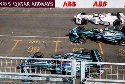Nelson Piquet Jr., Jaguar Racing, Jose Maria Lopez, Dragon Racing, Mitch Evans, Jaguar Racing.