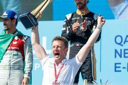 Allan McNish, Team Principal, Audi Sport Abt Schaeffler, collects the constructors trophy