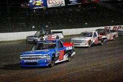 Stewart Friesen, Halmar Friesen Racing, Chevrolet Silverado We Build America, Max McLaughlin, Niece Motorsports, Chevrolet Silverado Niece Equipment, and Ty Dillon, Young's Motorsports, Chevrolet Silverado