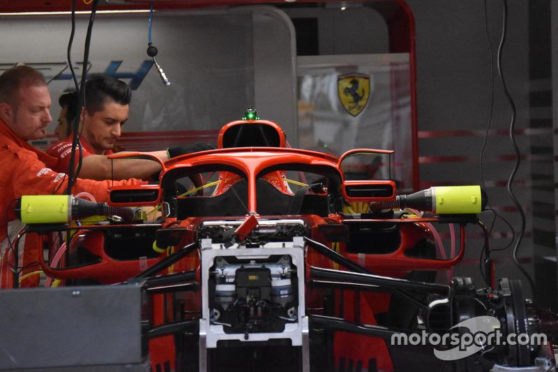Halo на Ferrari SF71H с зеркалами заднего вида