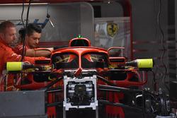 Detalle frontal del Ferrari SF71H